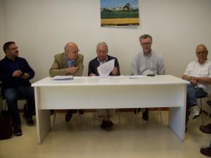 Davide Cornacchia, Sergio Cordibella, Giuliano Longfilis, Giorgio Bassi e Giuseppe Chiericati